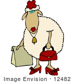 #12482 Female Sheep Clipart by DJArt