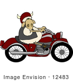 #12483 Biker Sheep Clipart