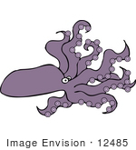 #12485 One Octopus Clipart