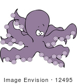 #12495 Purple Octopus Clipart by DJArt