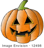 #12498 Carved Halloween Pumpkin Clipart