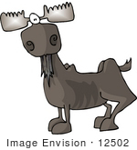 #12502 Moose Clipart