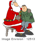 #12513 Boy On Santa'S Knee Clipart
