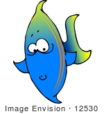 #12530 Fishy Face Clipart