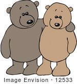 #12533 Friendly Teddy Bears Clipart by DJArt