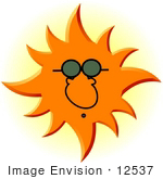 #12537 Sun Man Wearing Sunglasses Clipart