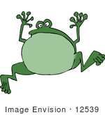 #12539 Jumping Frog Clipart