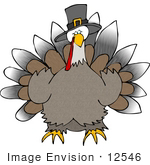 #12546 Thanksgiving Turkey Clipart