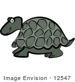 #12547 Green Turtle Clipart