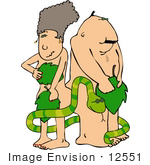 #12551 Adam And Eve With The Snake Clipart