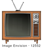 #12552 Box Television Clipart by DJArt