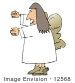 #12568 Female Angel Clipart