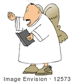 #12573 Male Angel Singing Clipart