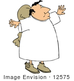 #12575 Male Angel Clipart