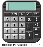 #12593 Calculator Clipart by DJArt