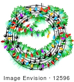 #12596 Circular Christmas Sheet Music Clipart by DJArt