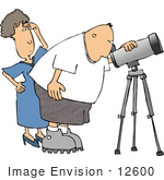 #12600 Astronomer And Wife Clipart