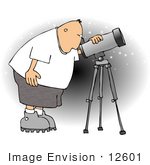 #12601 Astronomer Clipart