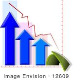 #12609 Arrows on a Chart Clipart by DJArt