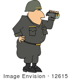 #12615 General Using Binoculars Clipart