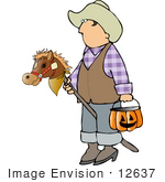 Le jeu du nombre en image... (QUE DES CHIFFRES) - Page 5 12637-boy-in-a-cowboy-costume-on-halloween-clipart-by-djart