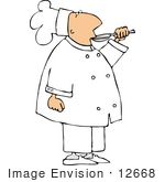 #12668 Chef Sampling His Food Clipart