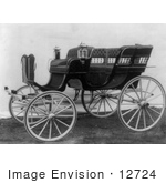 #12724 Picture of a Horse Drawn Carriage in 1904 by JVPD