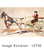 #12730 Picture Of A Woman Riding In A Coach