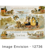 #12736 Picture Of Horse Drawn Carriages
