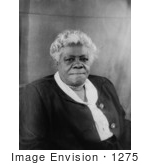 #1275 Black and White Photo Portrait of Mary McLeod Bethune by JVPD