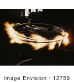 #12759 Picture of Flames on a Locomotive Driver Wheel by JVPD