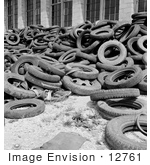 #12761 Picture Of A Pile Of Scrap Tires