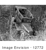 #12772 Picture Of An Abandoned Wrecked Car