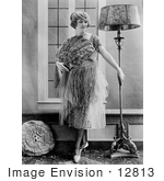 #12813 Picture Of A Woman With A Lamp