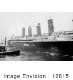 #12815 Picture Of A Ship By The Lusitania
