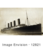 #12821 Picture of the RMS Lusitania by JVPD