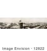 #12822 Picture Of A Panoramic Of The Lusitania