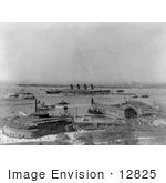 #12825 Picture Of The Lusitania In The New York Harbor