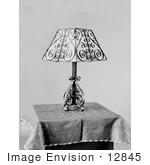 #12845 Picture Of An Elegant Lamp On A Table