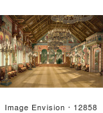 #12858 Picture of the Music Room at Neuschwanstein Castle by JVPD