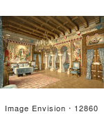 #12860 Picture of the Drawing Room in Neuschwanstein Castle by JVPD