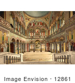 #12861 Picture Of The Throne Room Neuschwanstein Castle Bavaria Germany