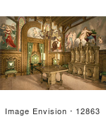 #12863 Picture of the Study Room at Neuschwanstein Castle by JVPD