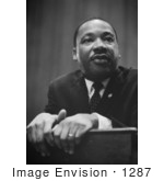 #1287 Black and White Photo of MLK, Martin Luther King JR by JVPD