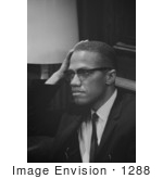 #1288 Black and White Stock Photo of Malcolm X by JVPD
