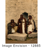 #12885 Picture Of Three Bedouins In Jordan