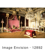 #12892 Picture of the Throne Room of Fontainebleau Palace by JVPD