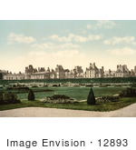 #12893 Picture Of The Park Garden And Palace At Fontainebleau