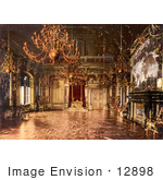 #12898 Picture of the Throne Room, Miramar, Istria, Austro-Hungary by JVPD