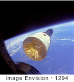 #1294 Stock Photo Of Gemini Vii Over Earth